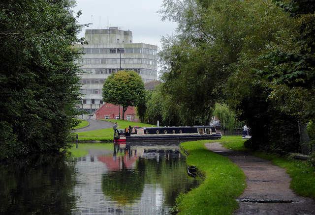 Canal in Kidderminster, Worcestershire