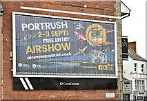 J3674 : Air Waves (Portrush) poster, Belfast (August 2017) by Albert Bridge