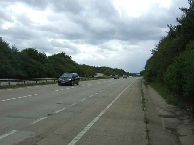 Looking south west on the A11