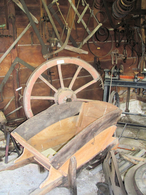 In the Wheelwright's Workshop at Pitstone Green Museum