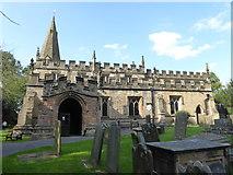 SK2572 : St Anne's Church, Baslow by Chris Allen