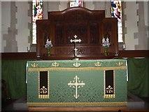 SD6279 : Holy Trinity, Casterton: altar by Basher Eyre