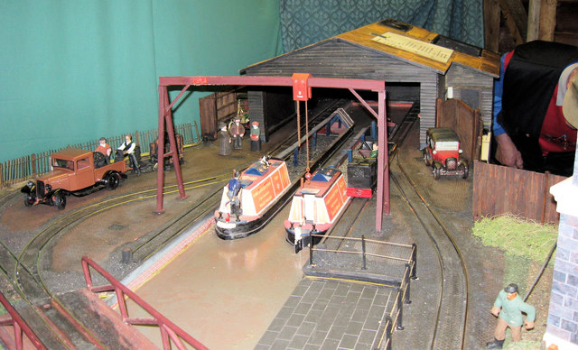 Model of Canal Wharf at Pitstone Green Museum