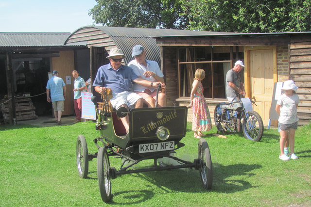 A Steam Car gives rides at the Pitstone Green Museum