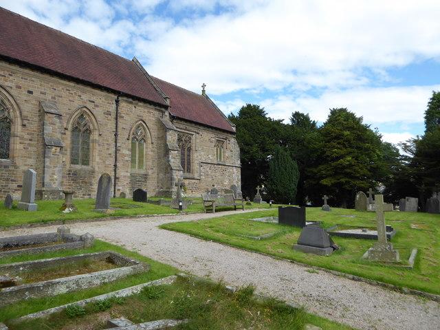 St Wilfrid, Halton: churchyard (11)