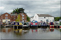 SO8171 : Stourport Upper Basin in Worcestershire by Roger  Kidd