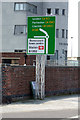 TM2532 : Roadsign on the A120 The Quay by Geographer