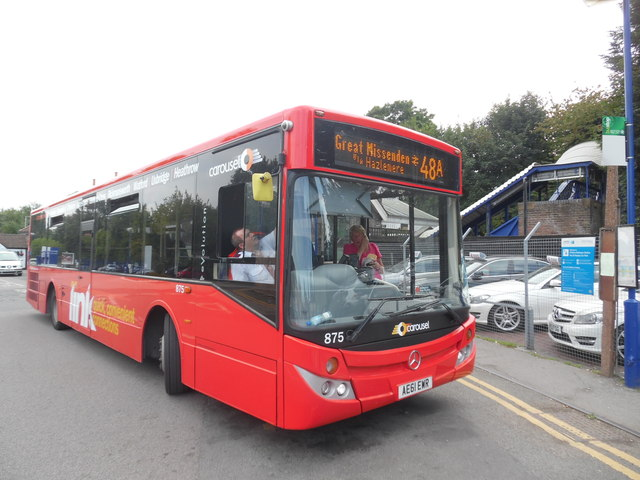 Last Route 48A Bus outside Great Missenden Station (1)