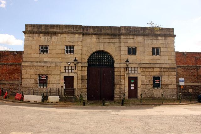 Original entrance to Gloucester Prison