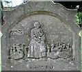 TG3202 : Ann Basey's gravestone - detail by Evelyn Simak