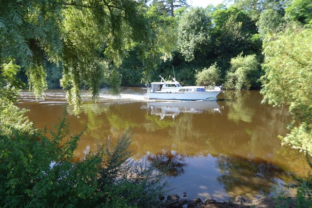 A cruiser on the River Severn