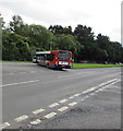 ST0581 : Stagecoach bus on the A4119, Mwyndy by Jaggery