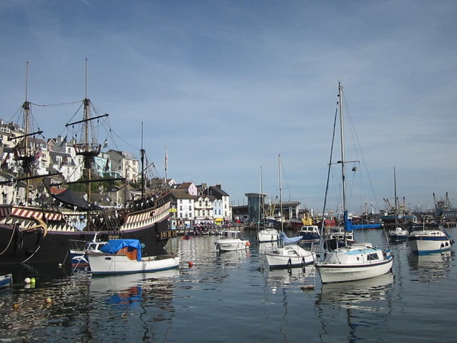 Brixham Harbour on an Unusually Warm August Bank Holiday Saturday