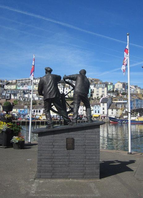 Man and Boy Statue Brixham