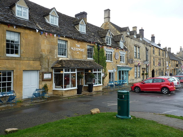 The Old Stocks Inn, and the former Youth Hostel in Stow
