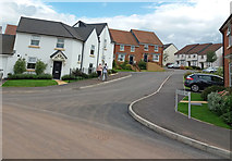 ST0107 : Cullompton: junction of Exmoor Way with Cambridge Way by Martin Bodman