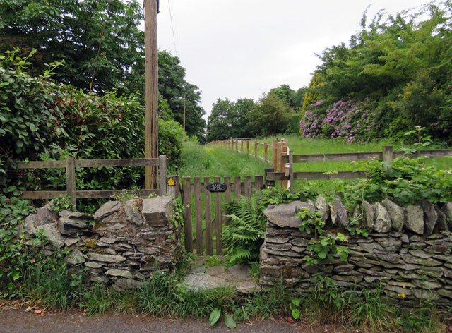 Footpath to centre of village