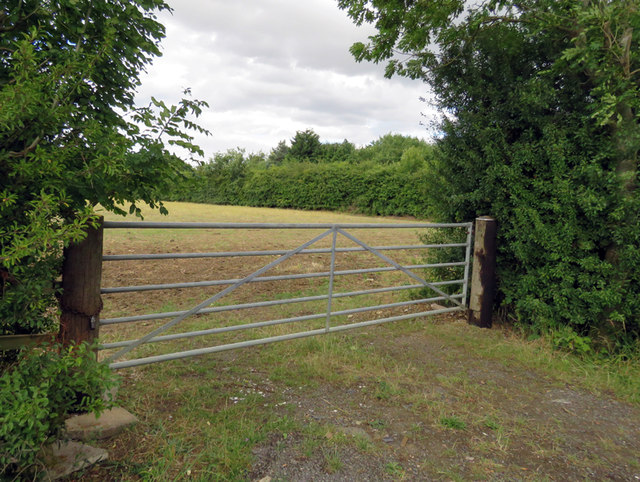 Field entrance on north side of South Croxton Road