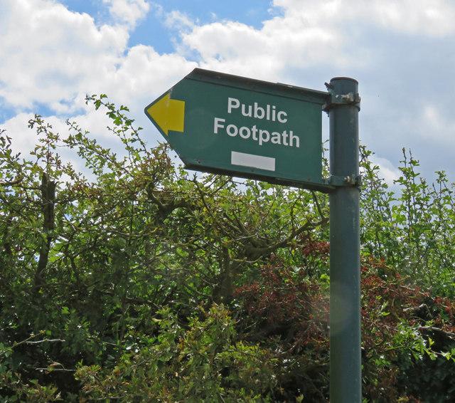 Footpath sign towards Burton Lazars