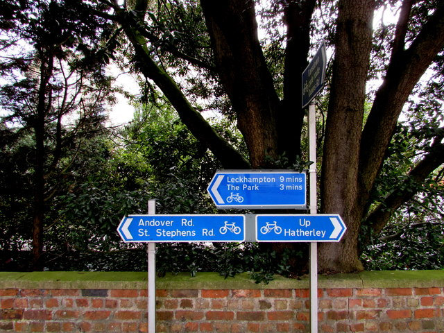 Cycle route directions, Lansdown Road, Cheltenham