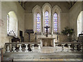 TL9134 : St Stephen's Chapel, Bures - Sanctuary by John Salmon