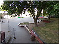 ST5973 : Pedestrian area on St. James Approach roundabout by Geographer