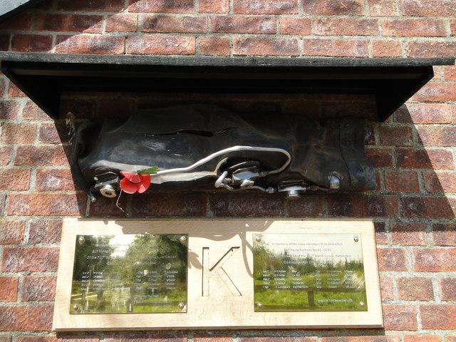 B17 Flying Fortress crash site memorial plaques