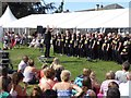 SO9036 : Rockchoir performing at Twyning Fete by Philip Halling