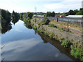 SE2535 : The river Aire at Kirkstall by Stephen Craven
