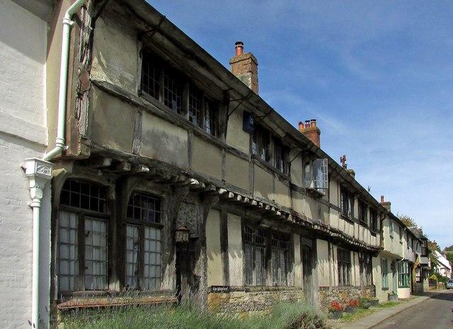 Jettied cottages, Cerne Abbas