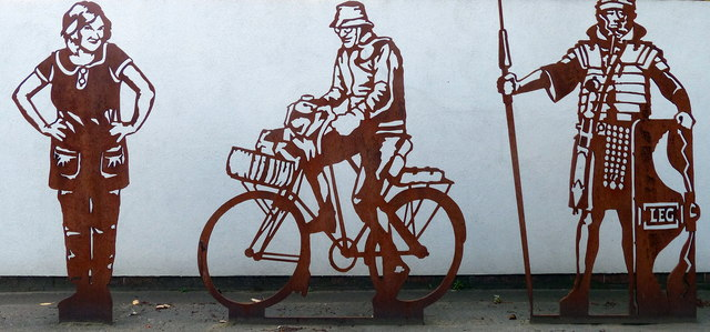 Artwork on the outer wall of the Port of Tyne