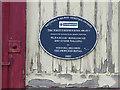 SD7580 : Plaque on Blea Moor signalbox by Stephen Craven