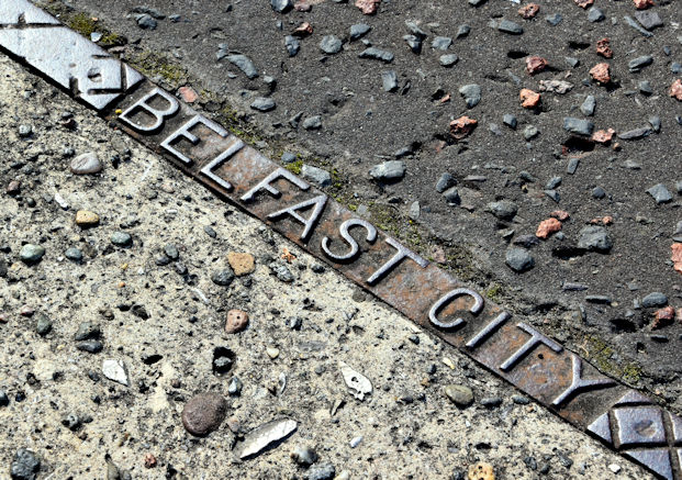 Electric tramways access cover, Belfast - September 2017(2)