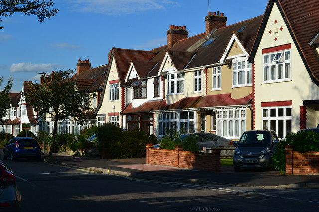 Suburban housing in Stanhope Grove