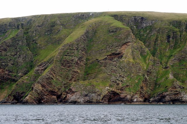 Cliffs at Saxa Vord, from the sea