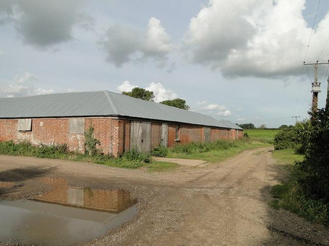 Farm buildings near Morston Hall