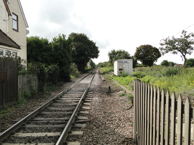 Line to Felixstowe from the Thorpe Lane crossing