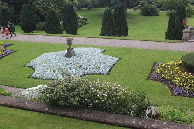 Ornamental garden, terrace, Tyntesfield House