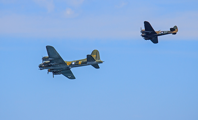 Bournemouth Air Festival 2017 - B-17 Flying Fortress & Bristol Blenheim
