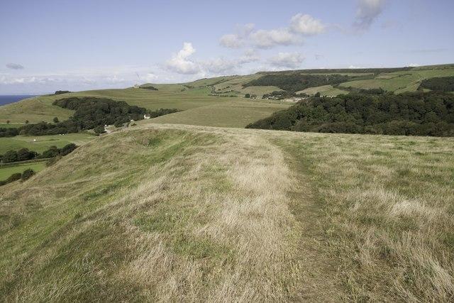 South-west coast path, Linton Hill near Abbotsbury