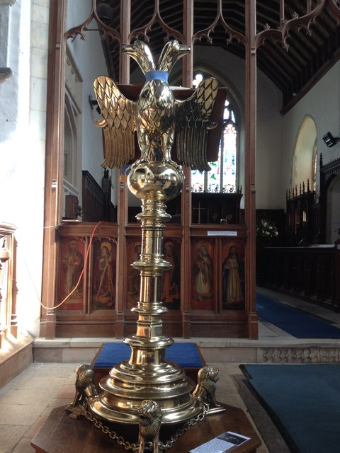 Medieval brass lectern, St Mary's Church, Redenhall