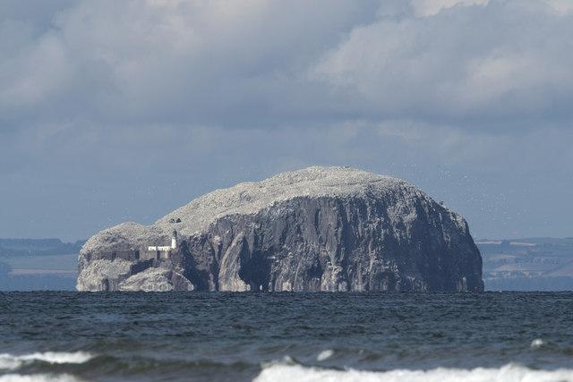 Bass Rock viewed from Belhaven Bay