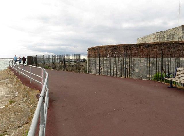 The Solent Way passing Southsea Castle