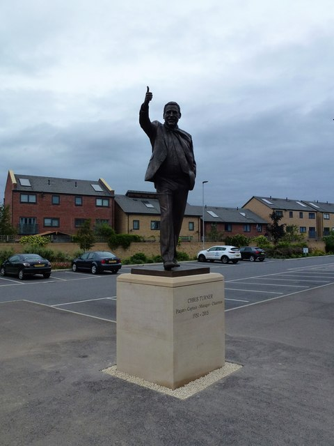 The Chris Turner Statue, London Road, Peterborough