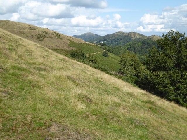 The Malvern Hills viewed from Millennium Hill
