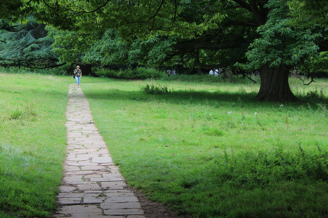 Path to kitchen garden from ha-ha, Tyntesfield Park