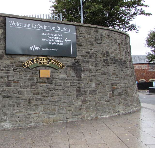 Sir Daniel Gooch Place name sign, Swindon