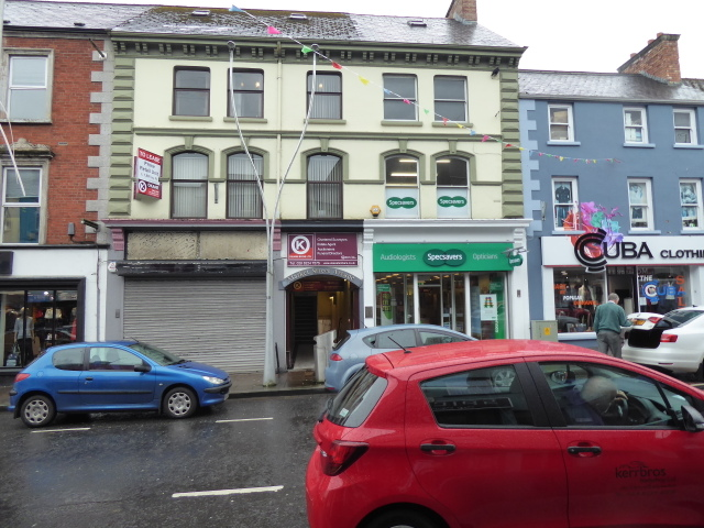 Shop closed, Market Street, Omagh