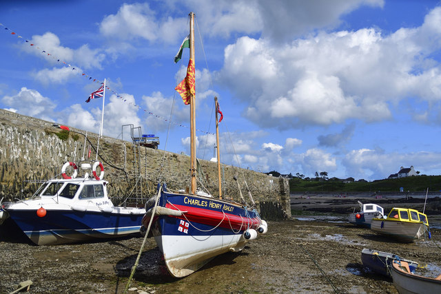 """""""Charles Henry Ashley"""" retired RNLI lifeboat at Cemaes Bay, Anglesey"""