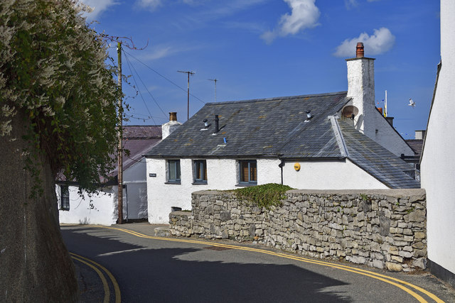 Whitewashed Cottage at Cemaes Bay